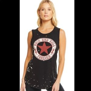 NWT CHASER Rock and Roll Forever Tank